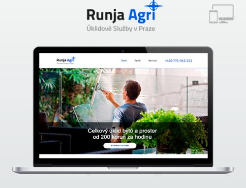 Портфолио Webswen сайт под ключ «Úklidové služby v Praze | Runja Agri»