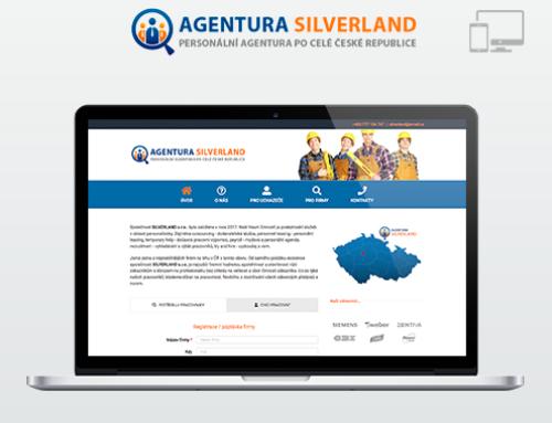Портфолио Webswen сайт под ключ «SILVERLAND Personální agentura»