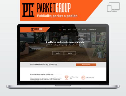 Портфолио Webswen сайт под ключ «Pokládka parket a instalace podlah Parket-Group s.r.o»