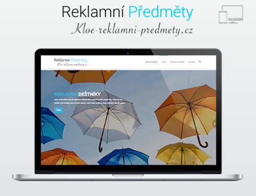 Портфолио Webswen сайт под ключ «KLOE — Reklamní předměty»