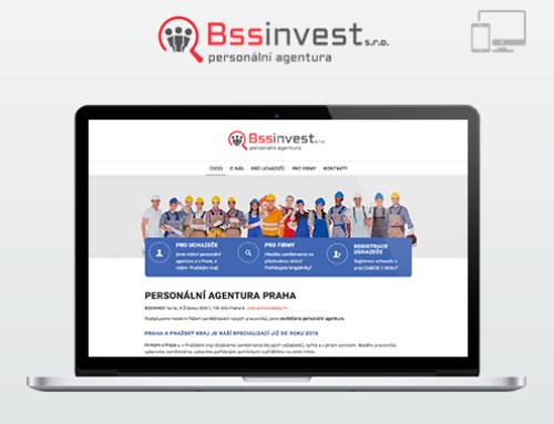 Портфолио Webswen сайт под ключ «BSSINVEST Personální agentura Praha»